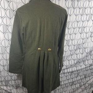 CAbi Jackets & Coats - CAbi #587 Cavilleri Military Knit Jacket Green M